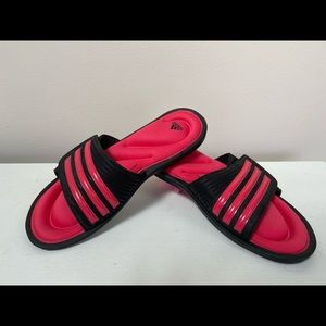 Adidas Black/Pink Fit Foam Soft  Footbed Slides
